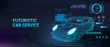 Car Service Future With HUD In...
