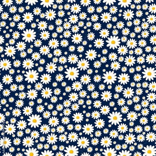 Stampa su Tela Daisy seamless pattern
