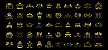 Golden Hotel Luxury Logo Set -...