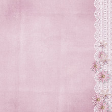 Vintage Pink Background With L...