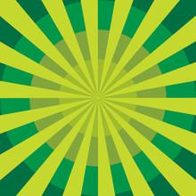 An Abstract Green Circular Bur...