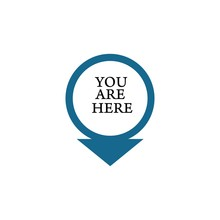 You Are Here Sign Icon. Info Map Pointer With Your Location