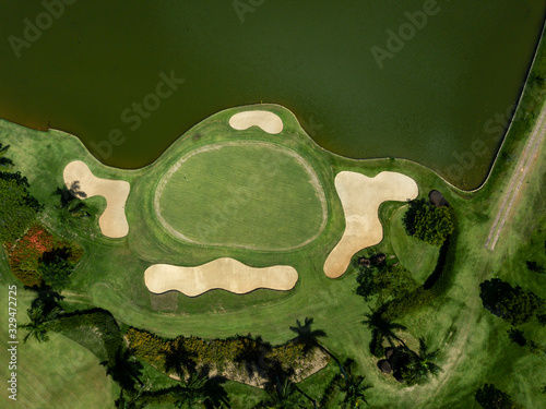golf campo Canvas Print