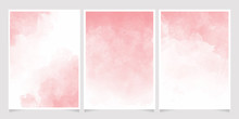 Pink Watercolor Wet Wash Splas...