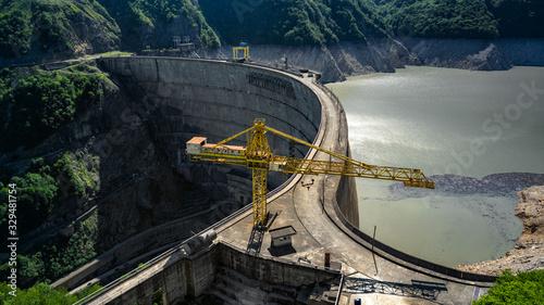 The Georgian Inguri dam in the summer Canvas Print