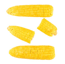 Corn Isolated On White Backgro...