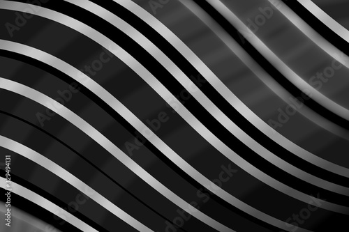 The monochrome abstract background metal and steel remade with curves which look amazing and beautiful Canvas Print