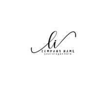 Letter LI Handwrititing Logo With A Beautiful Template