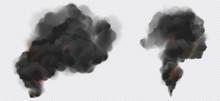 Black Smoke Or Steam Trails Se...