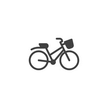 Bicycle Vector Icon. Filled Fl...