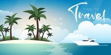 Tropical Island Beach With Pal...