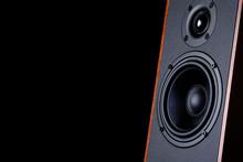 Big Speaker On A Black Backgro...