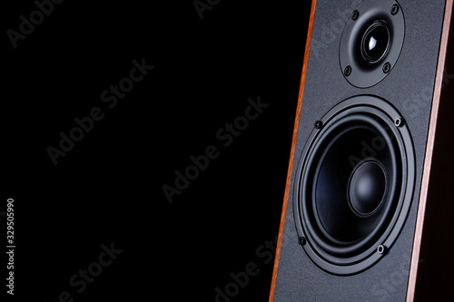 Big speaker on a black background - 329505990