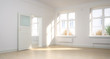 Leinwandbild Motiv Empty renovated apartment - panoramic 3d visualization