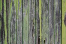 Old Green Wooden Texture Backg...