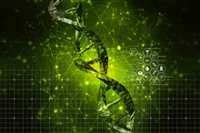 3d Render Of Dna Structure, Ab...