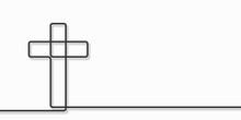 Cristian Cross Icon Over White...