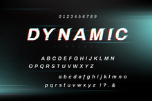 High Speed Dynamic Alphabet Font Set