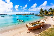 Boat On The Beach, Mauritius