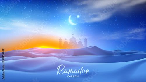 Fotografiet Ramadan Kareem holiday banner