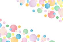 Watercolor Frame Bubbles Backg...
