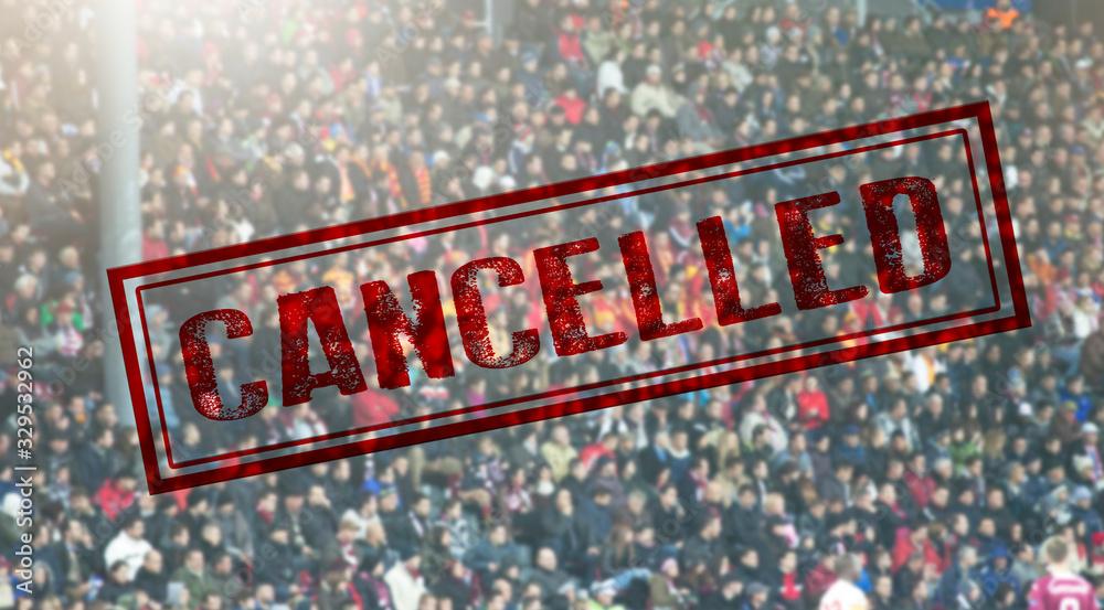 Fototapeta Sport event cancelled because of Coronavirus outbreak