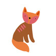 Cute cartoon animal vector illustration. Abstract icon for baby posters, art prints, fashion apparel or stickers.