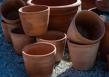 Clay Or Terracota Flowerpots F...