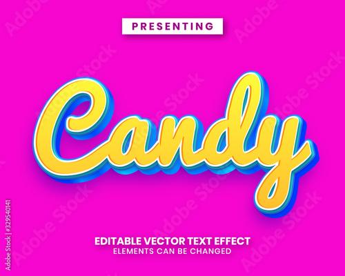 Fényképezés Sweet candy style editable text effect