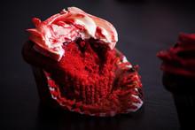 Bitten Red Velvet Cupcake