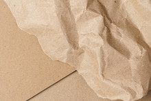 Crumpled Craft Paper With Cart...