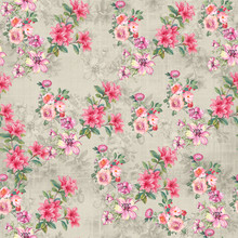Digital Print Flower Pattern D...