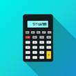 Calculator icon. flat design vector illustration