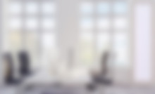 3D Rendering, Large Office. Open Space. Panoramic Windows. Bright Hues., Mockup Picture. Unfocused, Blur Phototography