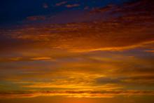 Fiery Orange Sunset Sky. Beaut...