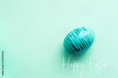 Aquamarine easter egg on aquamarine fong Canvas Print