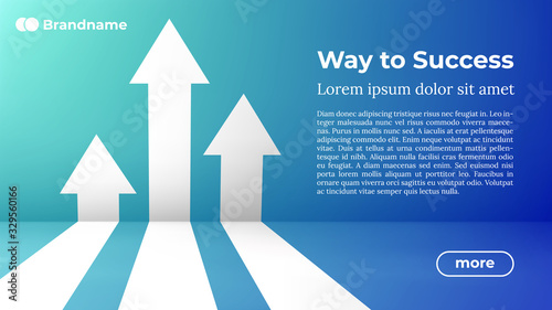 Business Arrow Target Direction Concept to Success Wallpaper Mural