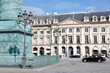 Place Vendome, heath of jewelry and historical luxury shops and hotels, in Paris, France
