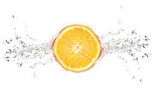 Orange On A White Background W...