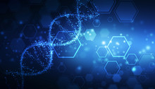 DNA Structure, Abstract Medica...