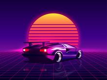 Retro Futuristic Back Side Vie...