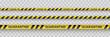 Warning coronavirus quarantine yellow and black stripes. Isolated on transparent background. Quarantine biohazard sign. Vector.