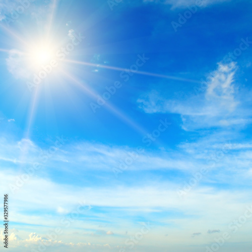 Fototapeta Bright midday sun illuminates the space. obraz na płótnie