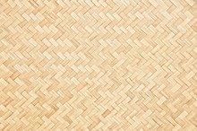 Handcraft Woven Bamboo Pattern And Texture For Background