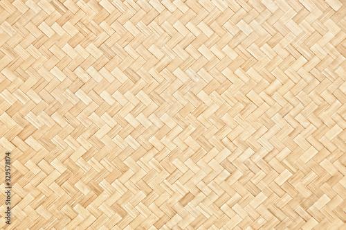 Naklejka premium Ręcznie tkany bambusowy wzór i tekstura dla tła