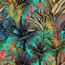 Colorful Tropical Pattern With...