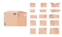 Large Moving Cardboard Box Set...