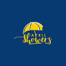 April Showers Vector Design Il...