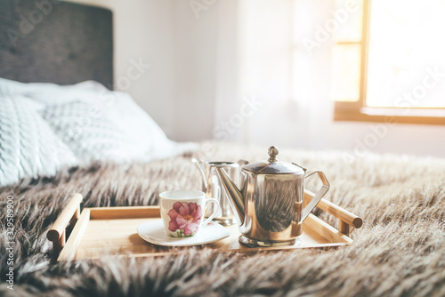 Morning coffee in bed still life Fototapete