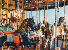 Carousel In An Amusement Holid...